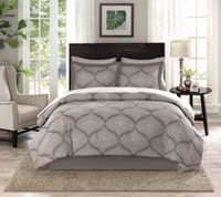 hometrends Dot Damask 8 Pieces Bed-In-A-Bag - King