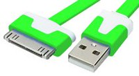 Exian 30 Pin to Flat USB Cable Green