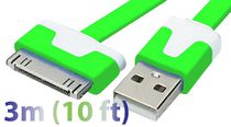 Exian 3 m 30 Pin to Flat USB Cable Green