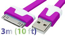 Exian 3 m 30 Pin to Flat USB Cable Purple