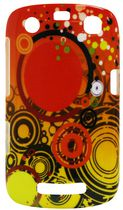 Exian Case for Blackberry Curve 9360 - Orange Circles Design