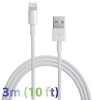 Exian 3 m Lightning to USB Cable - White