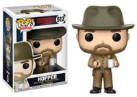 Funko POP! Television: Stranger Things - Hopper (With Donut) Vinyl Figure