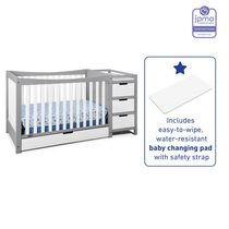 Graco Remi 4-in-1 Convertible Crib and Changer Grey