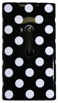 Exian Case for Lumia 920, Polka Dots - Black