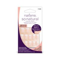 Nailene So Natural Everyday French Artificial Nails - Short Pink Beige
