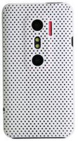 Exian Case for HTC Evo 3D - Net Pattern White
