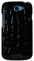 Exian Case for HTC One S, Crocodile Skin - Black