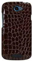 Exian Case for HTC One S - Crocodile Skin Brown
