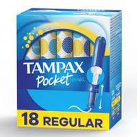 Tampons régulier Pocket Pearl de Tampax compacts d'absorptions