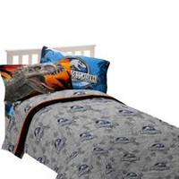 "Universal Studios Home Entertainment Jurassic World ""Dinosaur Attraction""  Sheet Set Twin"