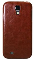 Exian Leather Case for Samsung Galaxy S4 - Synthetic leather brown