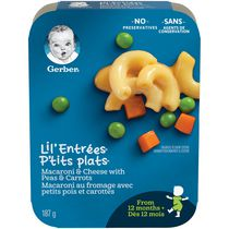 GERBER LIL'ENTRÉES Macaroni & Cheese with Peas & Carrots