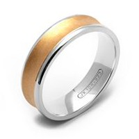 Rex Rings 10KT Concave Yellow Gold Band on Sterling Silver Base Ring 9