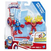 Playskool Heroes Marvel Super Hero Adventures - Captain America et Marvel's Falcon