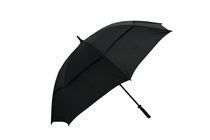 "Tour Mission 62"" Wind Resistant Black Golf Umbrella"