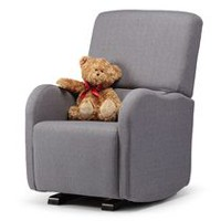 Shermag Luca Upholstered Charcol Glider Chair
