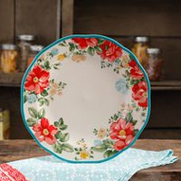 THE PIONEER WOMAN VINTAGE FLORAL 10.5-INCH SCALLOPED DINNER PLATE
