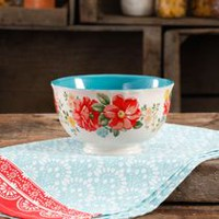 THE PIONEER WOMAN VINTAGE FLORAL 6-INCH FOOTED BOWL