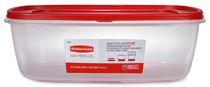 Rubbermaid Easy Find Lid Food Storage Container, 9.5 Liter, Red