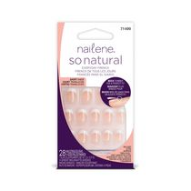 Ongles artificiels style français de tous les jours So Natural de Nailene - courts translucides