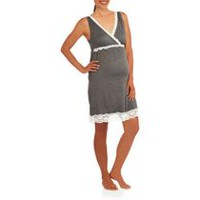 Nurture by Lamaze Women's Maternity / Nursing Chemise Grey XL