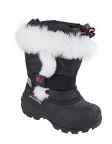 Ice Fields Girls' Lighted Fur Winter Boots 7