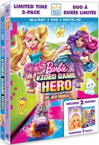 Barbie: Video Game Hero + Barbie Princess Charm School (Blu-Ray + DVD + Digital HD) (Walmart Exclusive) (Bilingual)