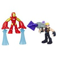 Playskool Heroes Marvel Super Hero Adventures - Iron Man et Marvel's Hawkeye