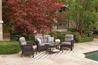 hometrends Tuscany 4-Piece Conversation Set Grey