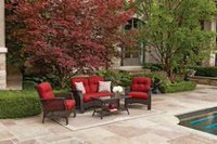 hometrends Tuscany 4-Piece Conversation Set Red
