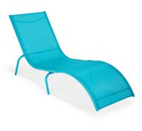 Mainstays Bright Chaise Lounge Blue