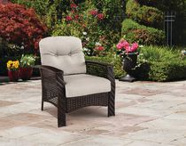 hometrends Tuscany Wicker Lounge Chair Grey