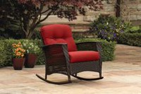 hometrends Tuscany Wicker Rocking Chair Red