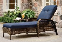 hometrends Tuscany Wicker Lounge Chair Blue