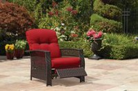 hometrends Tuscany Wicker Recliner Red