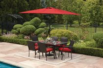 hometrends Tuscany 7 Piece Dining Set Red