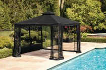 hometrends 10' Easy Set Up Gazebo- Black