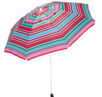 Mainstays 7 ft. Beach Umbrella Pink stripes