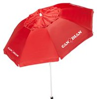 Mainstays 7 ft. Beach Umbrella Red