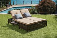 hometrends Double Day Lounger Bed- Beige