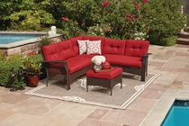 hometrends Tuscany 4 Piece Sectional Set Red