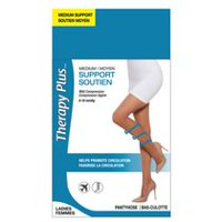 THERAPY PLUS Pantyhose 1 pr Black D