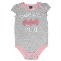 Batgirl Baby Girls' Short Puff Sleeve Bodysuit 3-6 months