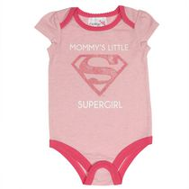 Supergirl Baby Girls' Short Puff Sleeve Bodysuit 6-12 months