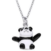 Cutie Pie Jewels Sterling Silver Children's Panda Bear Pendant, 14""