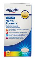 Equate Adults Men's Formula Multivitamin and Mineral Supplement