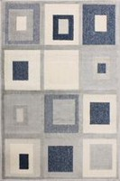 hometrends Cube Polypropylene Geometric Rectangle Accent Rug 30 x 45