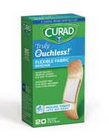 "Curad Truly Ouchless Flexible .75"" x 3"" Fabric Bandage"