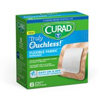 "Curad Truly Ouchless Flexible 2"" x 2"" Fabric Bandage"